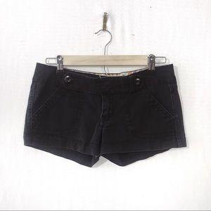 Jalate Mid-Rise Shorts - Black
